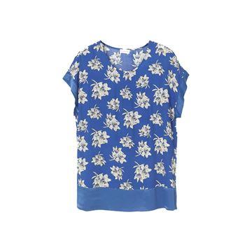 Blå blomstret bluse fra By Malene Birger