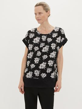 Sort blomstret bluse fra By Malene Birger